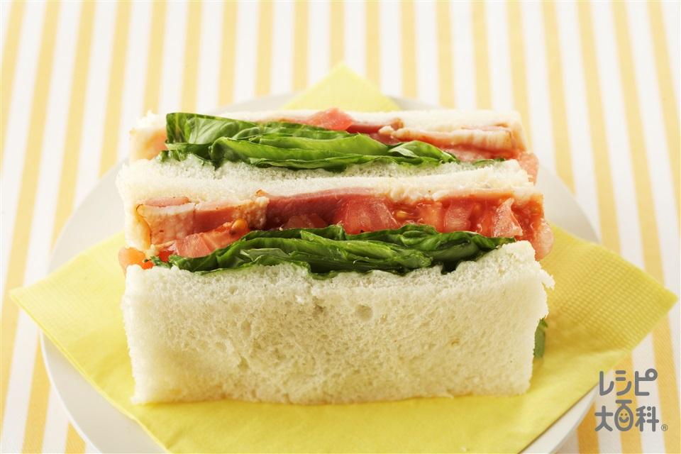 BLTサンド(サンドイッチ用食パン+ベーコンを使ったレシピ)