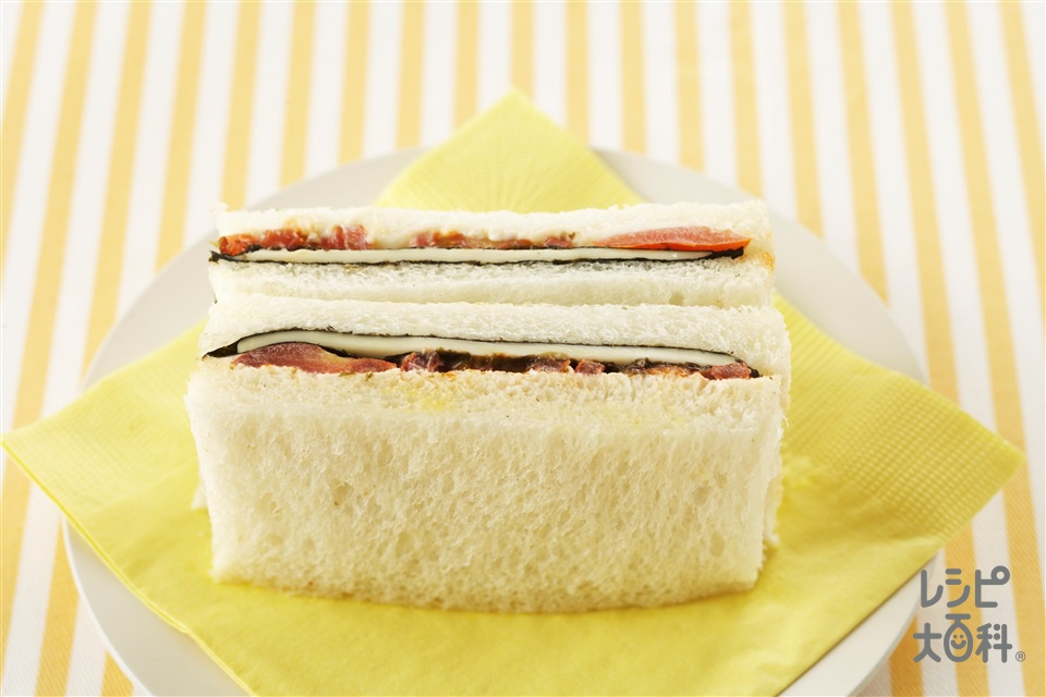 のりチーズトマトサンド(サンドイッチ用食パン+ミニトマトを使ったレシピ)
