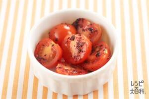 ミニトマトの赤じそあえ