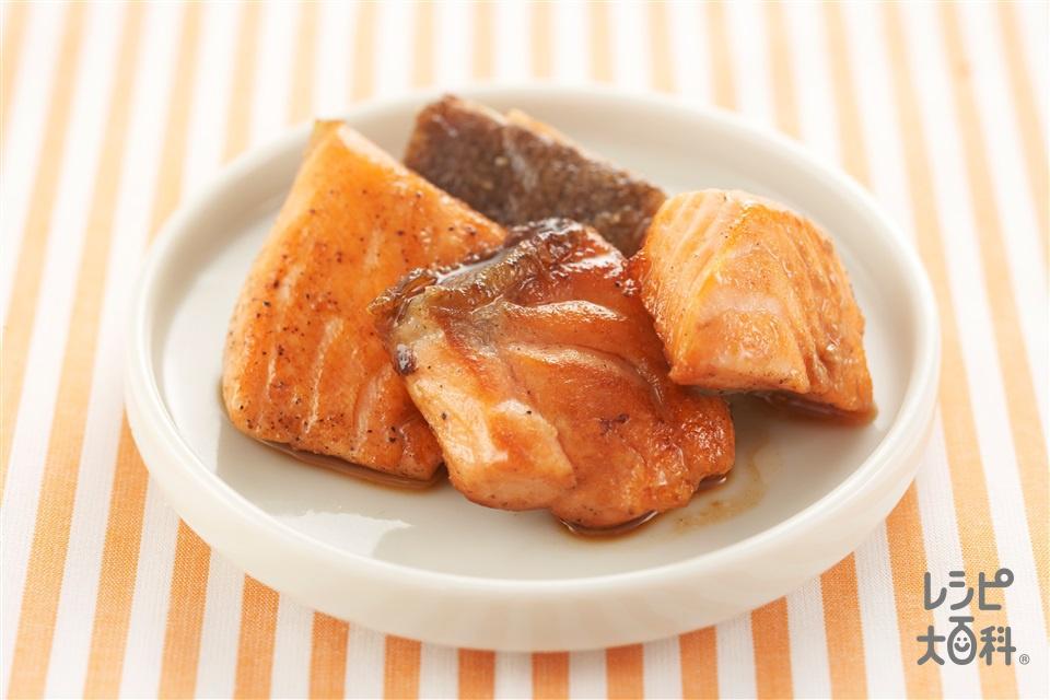 鮭の照り焼き(生ざけ(切り身)+「瀬戸のほんじお」を使ったレシピ)