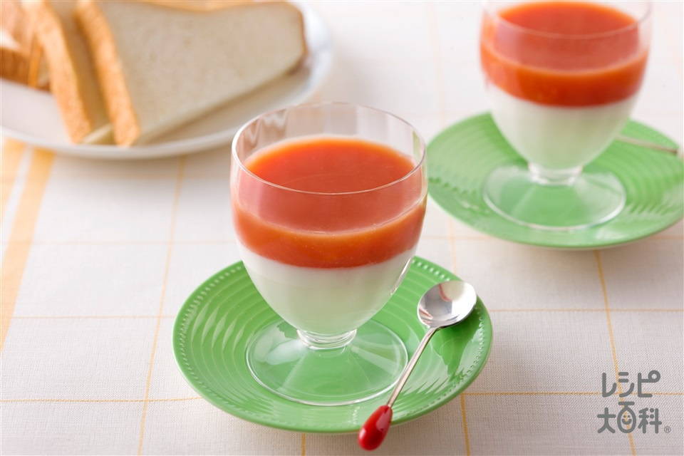 トマトヨーグルト(トマトジュース+プレーンヨーグルトを使ったレシピ)