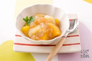 グレープフルーツとオレンジの食べジャムと紅茶のゼリー