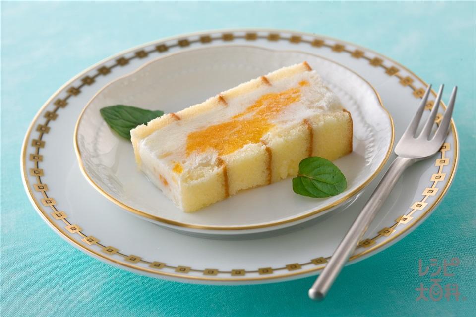 グレープフルーツとオレンジの食べジャムアイスケーキ