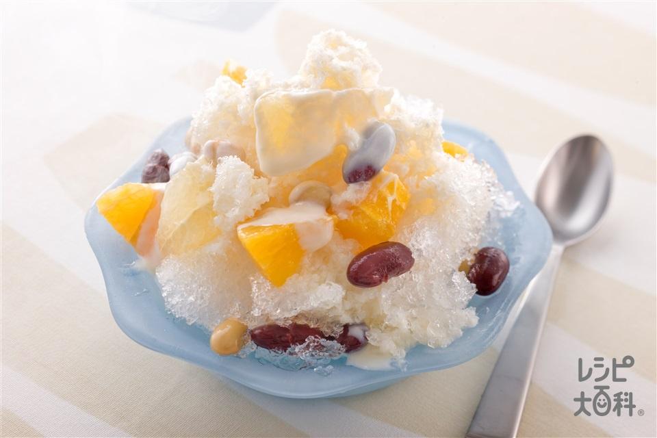 アジア風かき氷(グレープフルーツ+豆乳(無調整)を使ったレシピ)