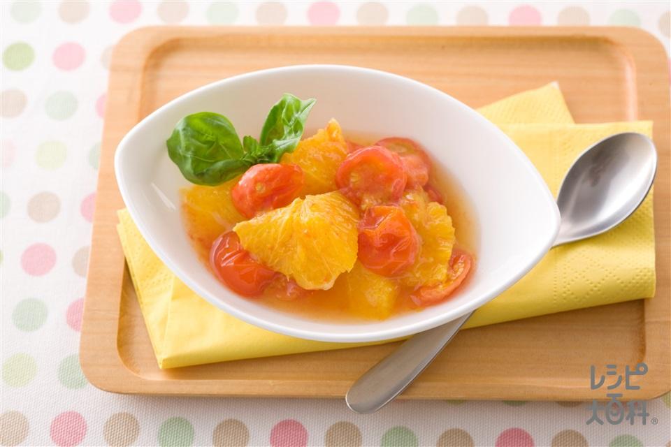 ミニトマトとオレンジの食べジャム(ミニトマト+オレンジを使ったレシピ)