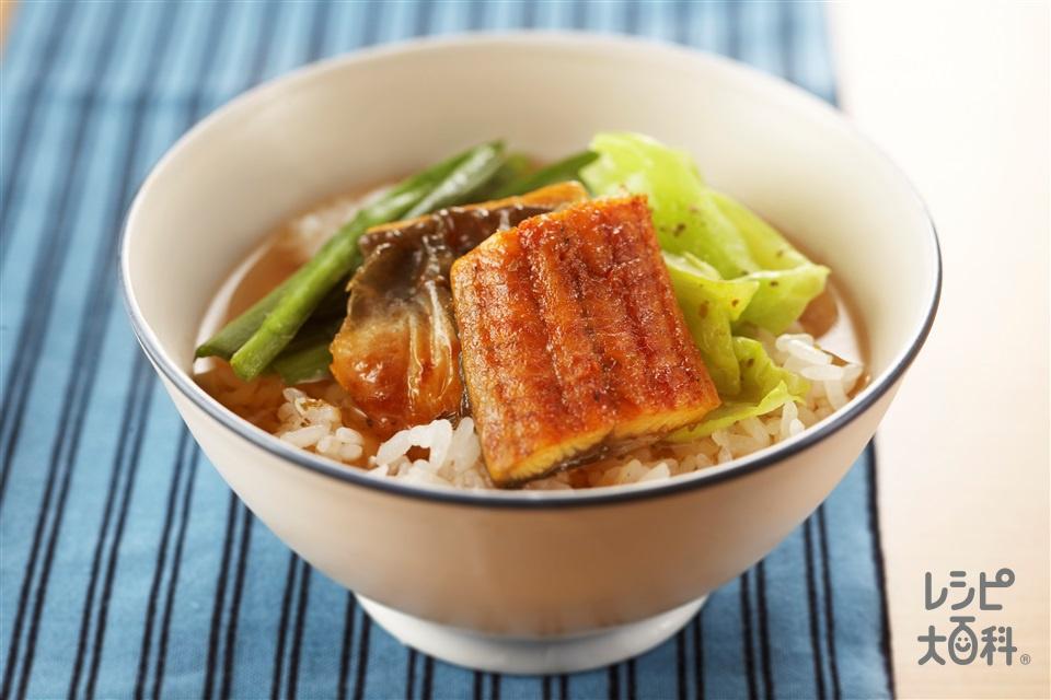 鍋のシメ うなぎとにら茶漬け(ご飯+「味の素」を使ったレシピ)
