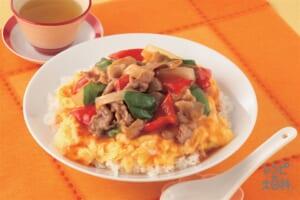 たっぷり野菜の天津飯