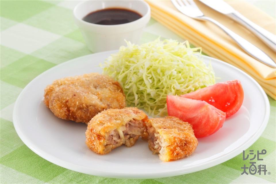 豚こまのメンチカツ風(豚こま切れ肉+玉ねぎを使ったレシピ)