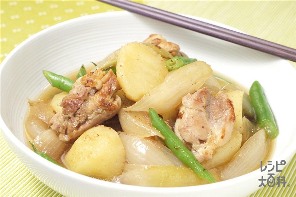 フライパン1つで 鶏塩肉じゃが(鶏もも肉+玉ねぎを使ったレシピ)