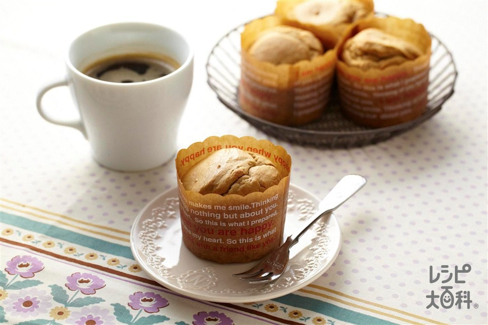 コーヒーのマフィン(卵+薄力粉を使ったレシピ)