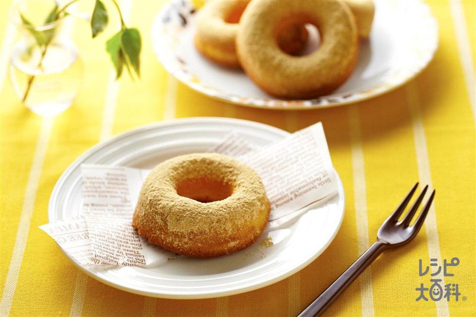 焼きドーナツ きなこ(薄力粉+「パルスイート」を使ったレシピ)