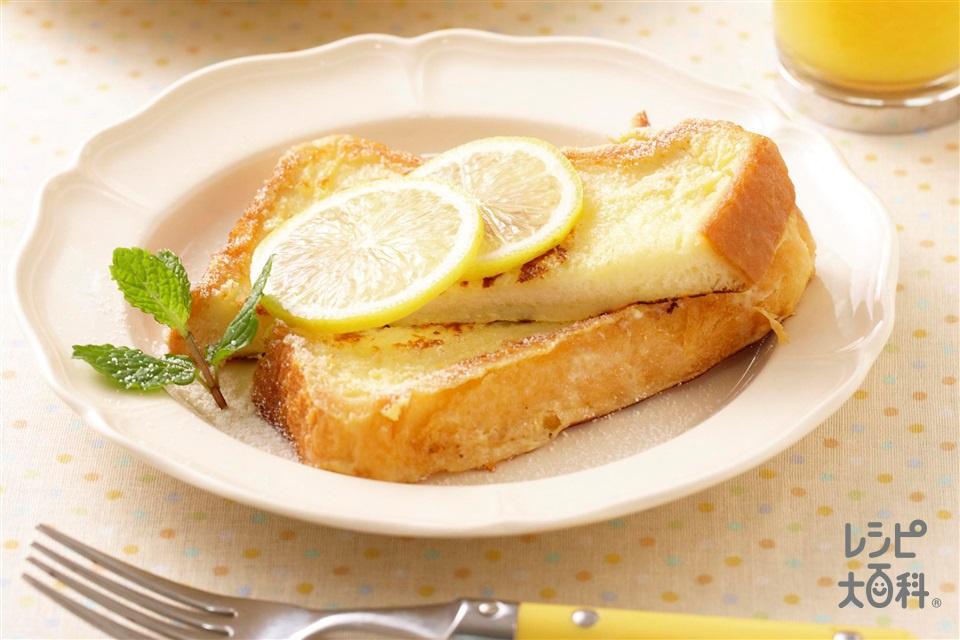 ヨーグルトフレンチトースト(食パン6枚切り+プレーンヨーグルトを使ったレシピ)
