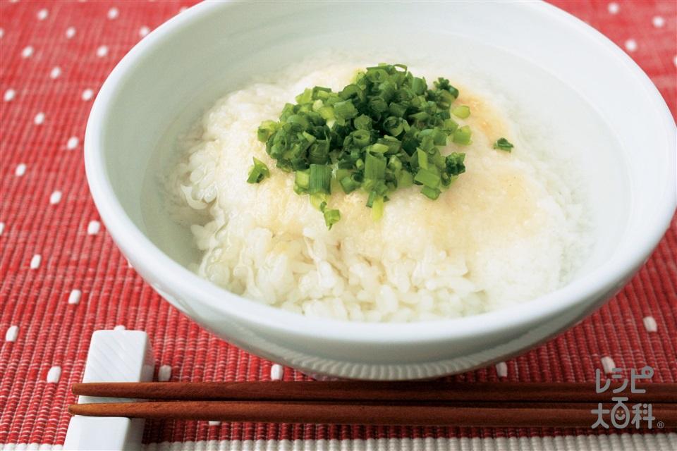 丸鶏とろろスープ丼(ご飯+長いもを使ったレシピ)