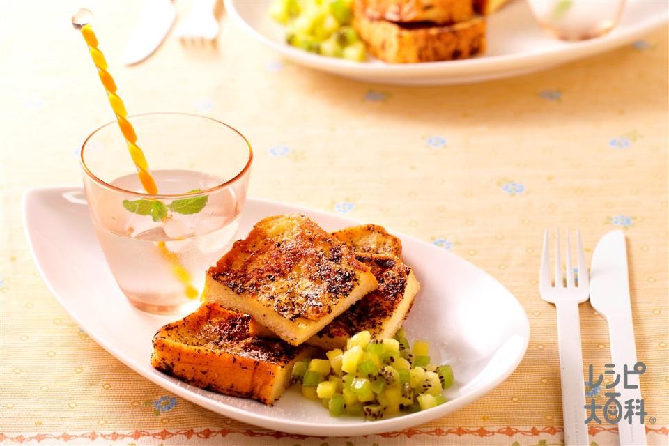 紅茶のフレンチトースト(食パン6枚切り+牛乳を使ったレシピ)