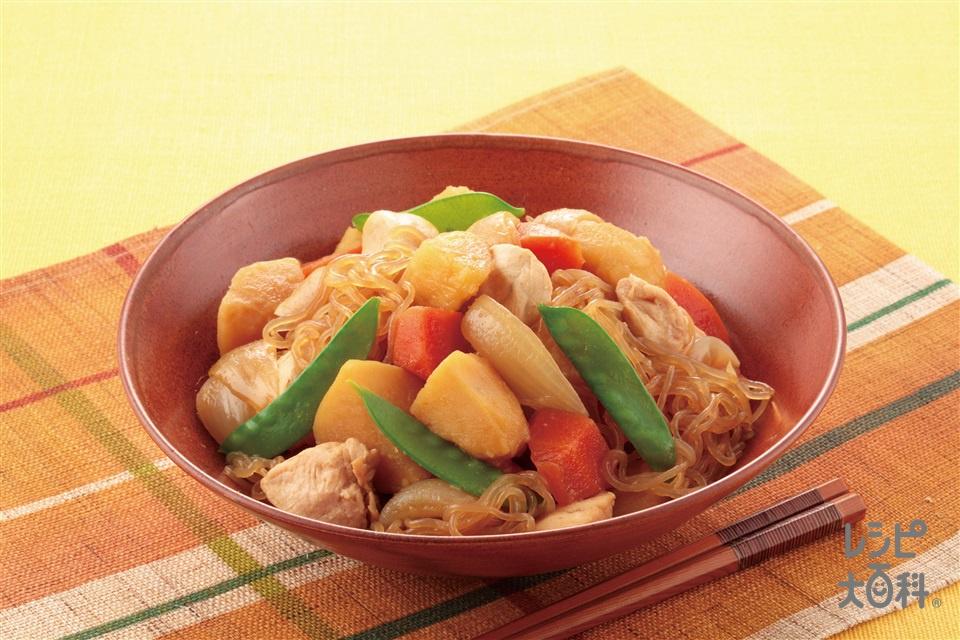 鶏のささ身で作るヘルシー肉じゃが(鶏ささ身+じゃがいもを使ったレシピ)