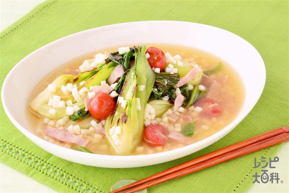 ちんげんさいのとろとろ煮(チンゲン菜+ミニトマトを使ったレシピ)