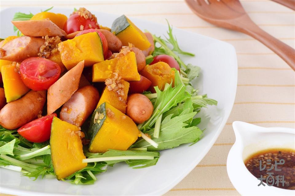 ウインナーとかぼちゃのホットサラダ(ウインナーソーセージ+かぼちゃを使ったレシピ)