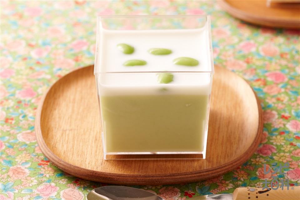 枝豆豆乳プリン(枝豆+牛乳を使ったレシピ)