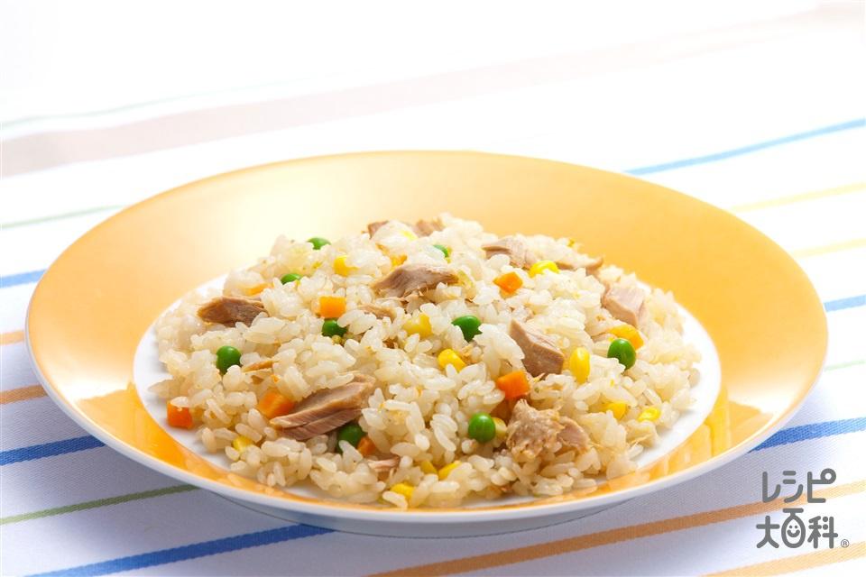 炊き込みマヨツナピラフ(米+ツナ水煮缶を使ったレシピ)