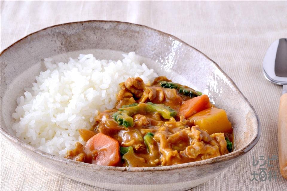 ゴーヤカレー(ゴーヤ+豚こま切れ肉を使ったレシピ)