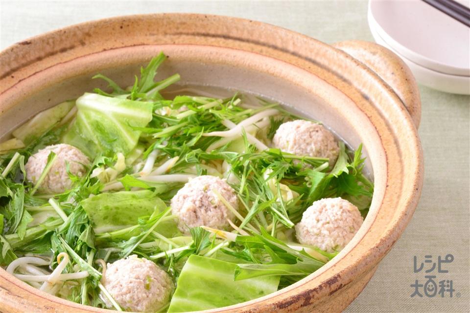 塩ちゃんこ鍋(キャベツ+鶏ひき肉を使ったレシピ)