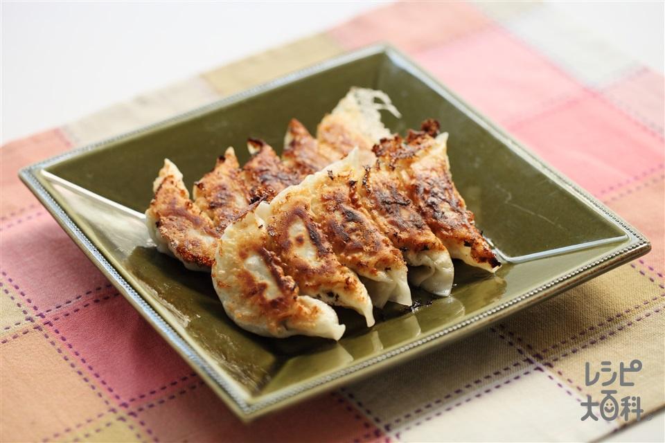 焼き餃子(豚ひき肉+Aキャベツを使ったレシピ)