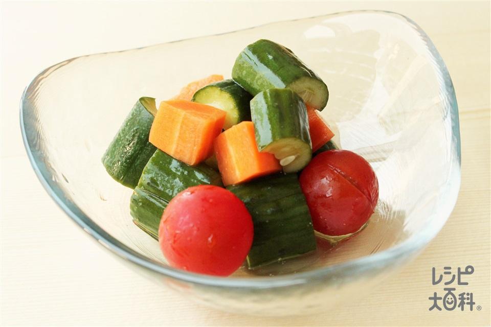 夏野菜のころころピクルス(きゅうり+ミニトマトを使ったレシピ)