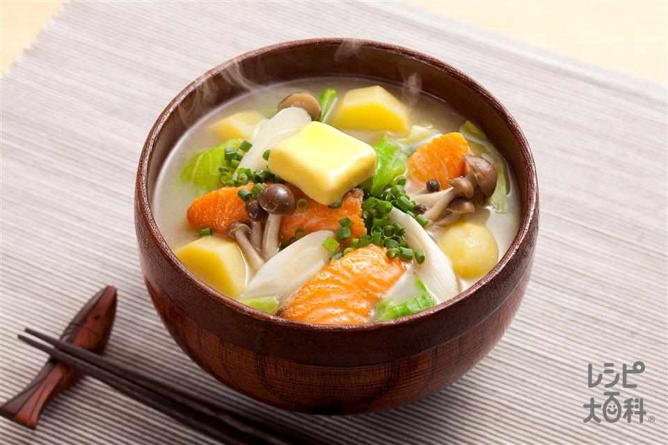鮭のちゃんちゃん絶品汁(さけ+じゃがいもを使ったレシピ)