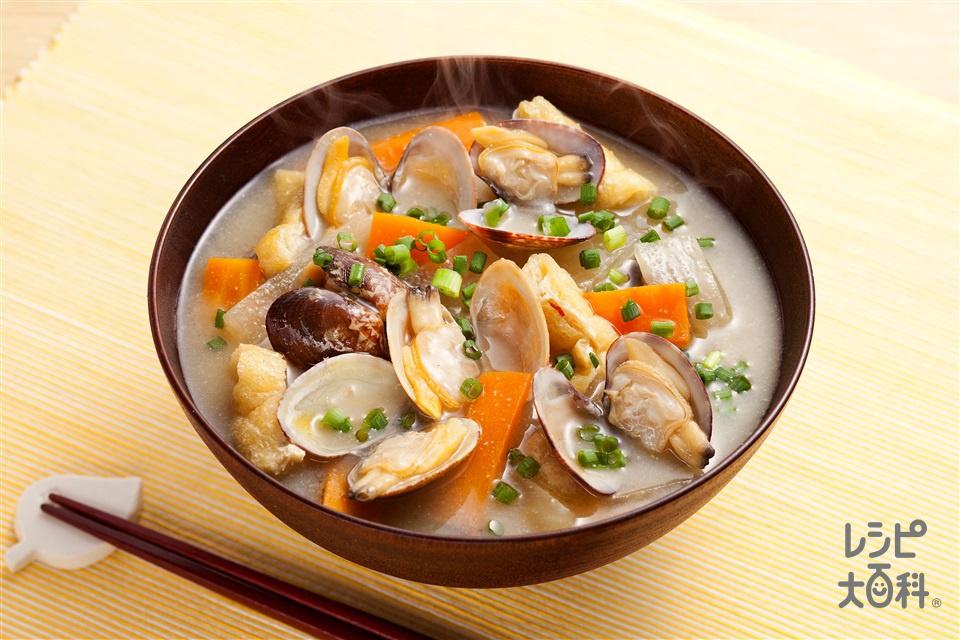 アサリ汁(あさり(殻つき)+大根を使ったレシピ)