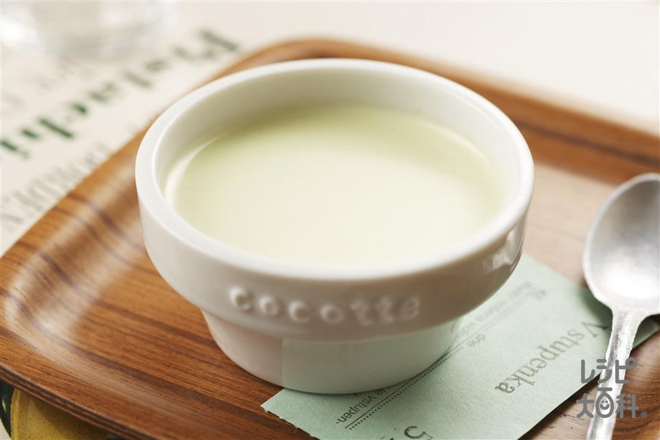玄米茶のミルクプリン(牛乳+生クリームを使ったレシピ)