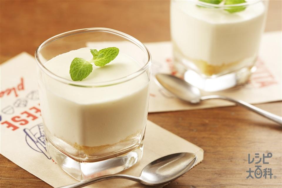 レアチーズケーキ(クリームチーズ+生クリームを使ったレシピ)