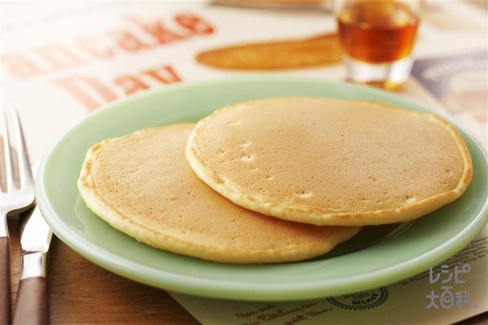 パンケーキ(薄力粉+牛乳を使ったレシピ)