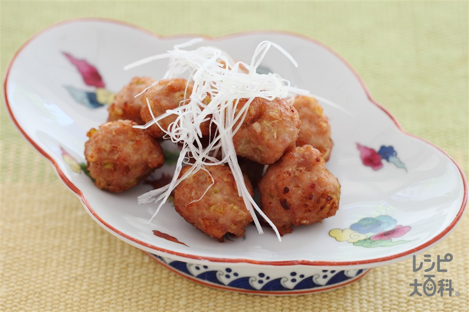肉だんご(鶏ひき肉+ねぎのみじん切りを使ったレシピ)