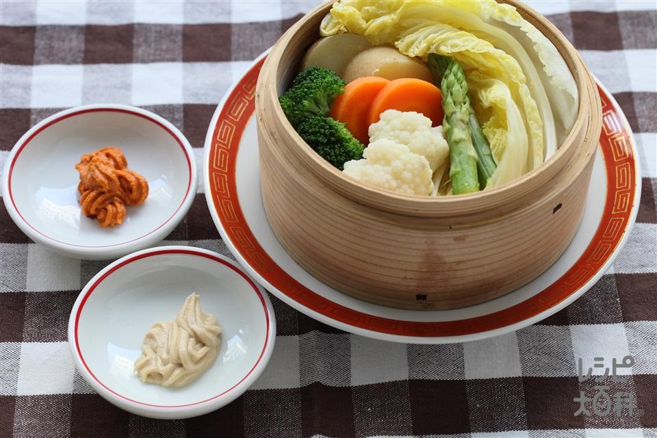 蒸し野菜(白菜+にんじんを使ったレシピ)