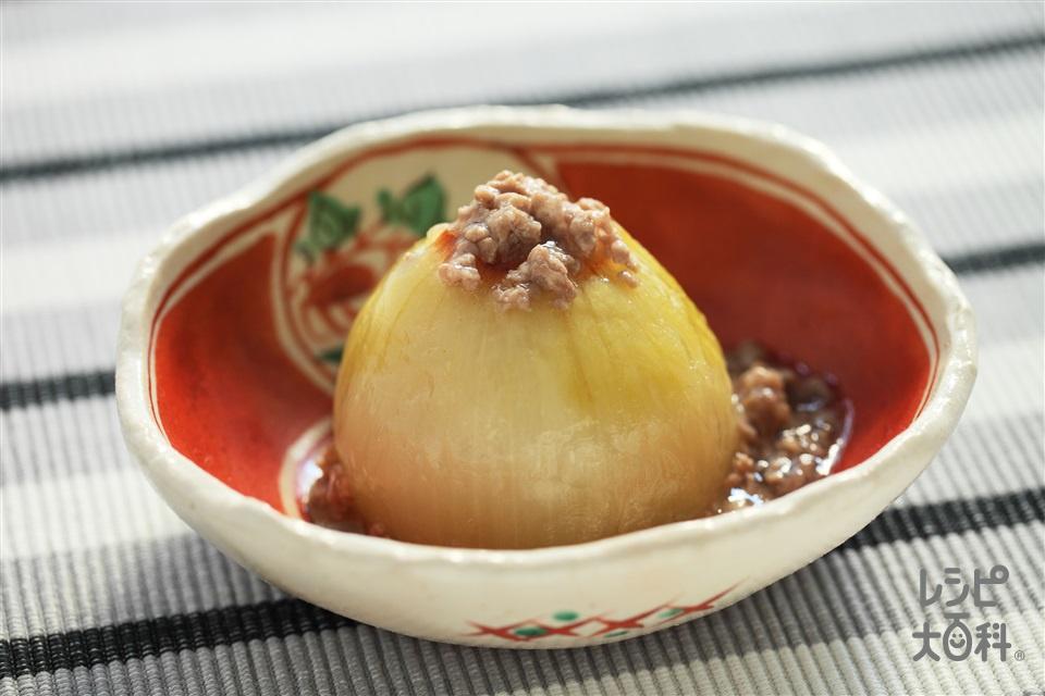 丸ごとレンジ玉ねぎ(玉ねぎ+豚ひき肉を使ったレシピ)