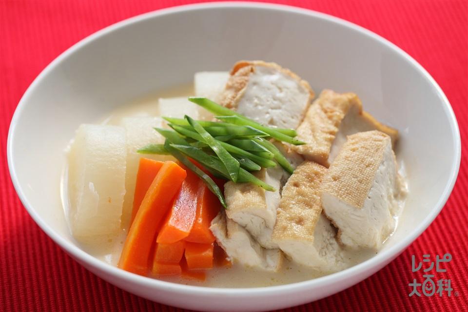 大根と厚揚げの煮物(厚揚げ+大根を使ったレシピ)