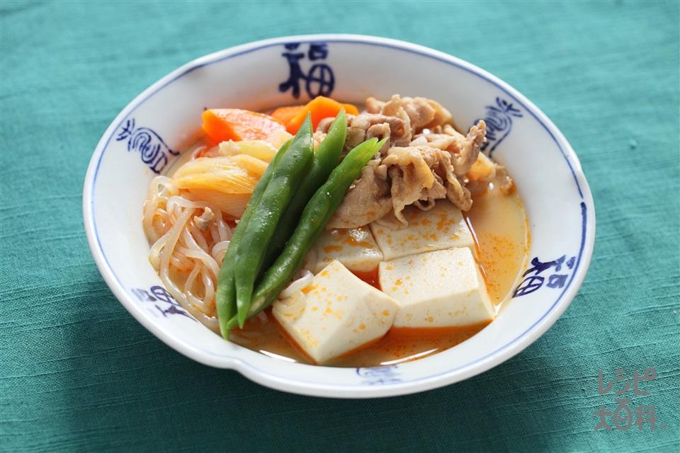 ピリ辛肉豆腐(豚こま切れ肉+木綿豆腐を使ったレシピ)