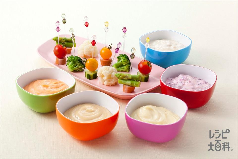 マヨディップピンチョス(きゅうり+イエロートマトを使ったレシピ)