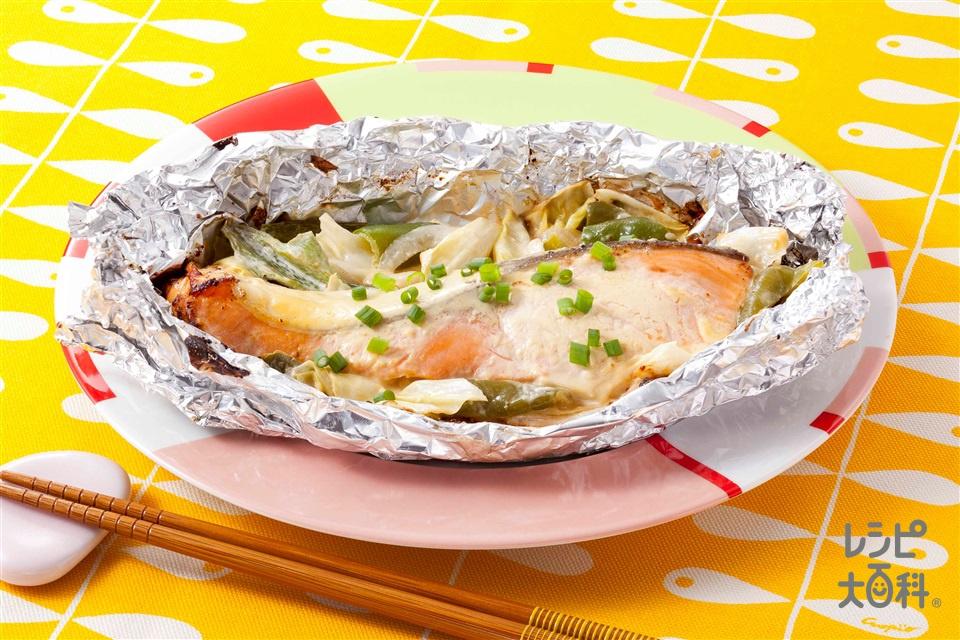 みそマヨちゃんちゃん風(生ざけ(切り身)+キャベツを使ったレシピ)