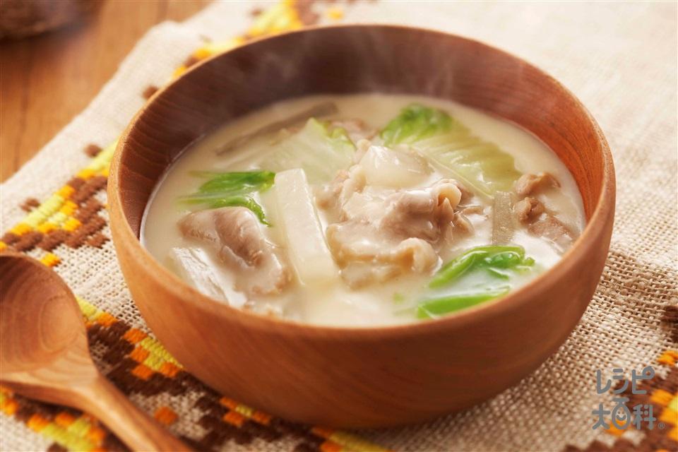 豚大根のクリームシチュー(豚こま切れ肉+大根を使ったレシピ)