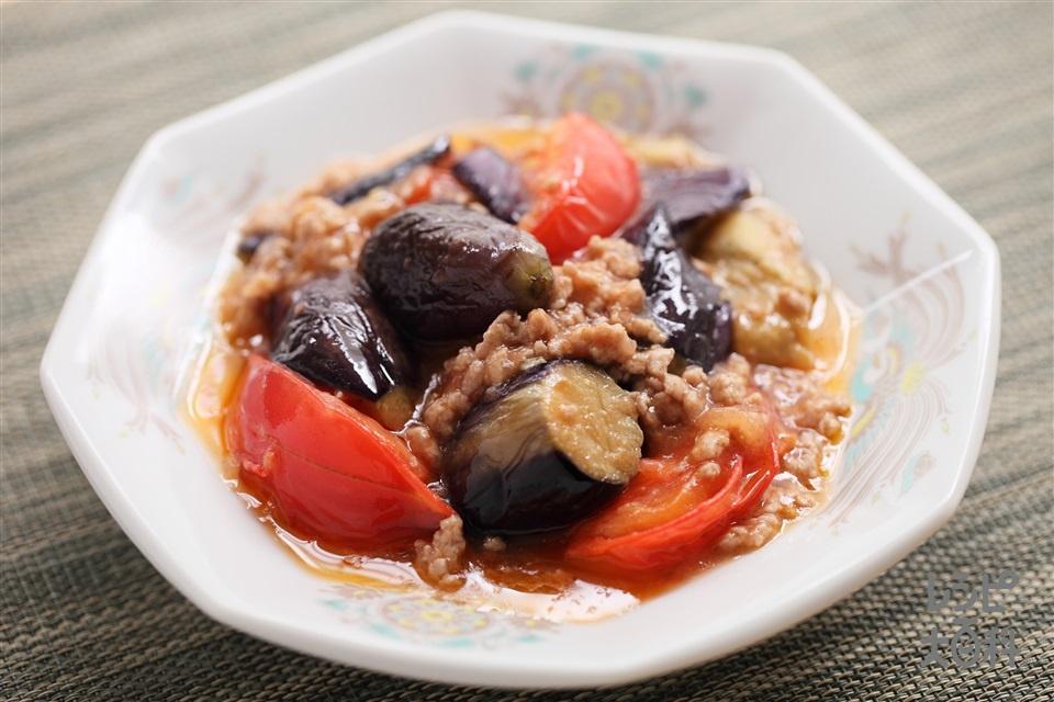 トマトとなすの炒め物(なす+トマトを使ったレシピ)