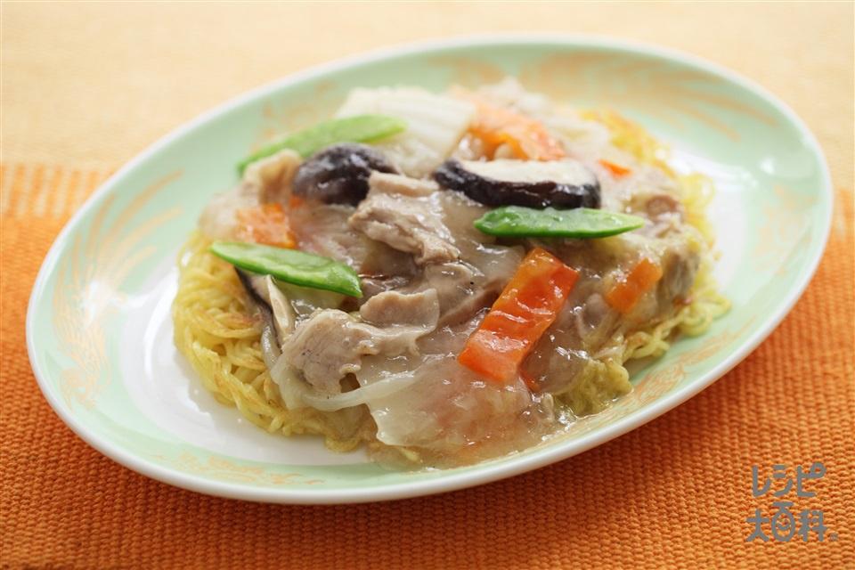 あんかけ焼きそば(中華蒸しめん+白菜を使ったレシピ)