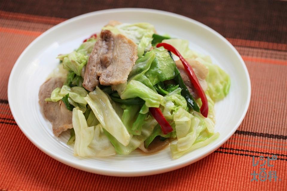 香味肉野菜炒め(豚バラ薄切り肉+キャベツを使ったレシピ)