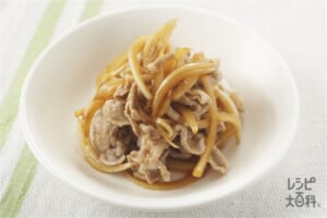 豚しゃぶのオニオンソース(豚こま切れ肉+玉ねぎを使ったレシピ)