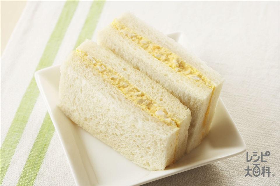 たまごサンド(食パン8枚切り+卵を使ったレシピ)