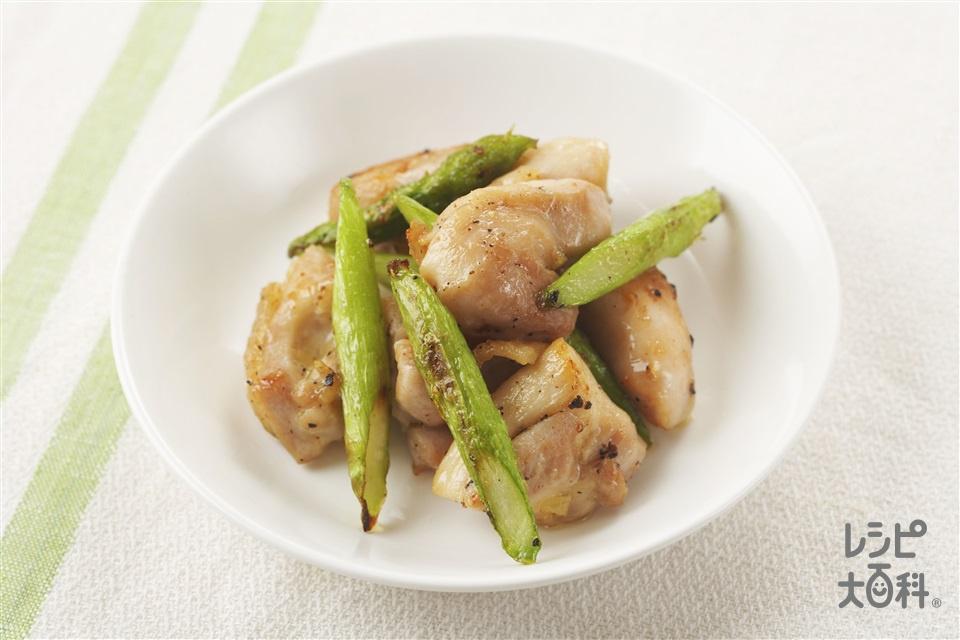 チキンとアスパラのソテー(鶏もも肉+グリーンアスパラガスを使ったレシピ)