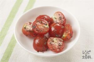 ミニトマトのバジルマリネ
