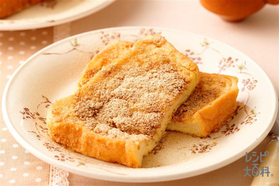 胡麻きな粉フレンチトースト(食パン6枚切り+牛乳を使ったレシピ)