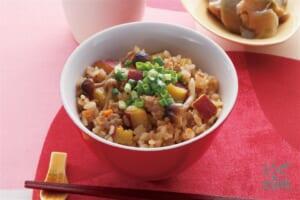 中華風さつまいもの炊き込みご飯