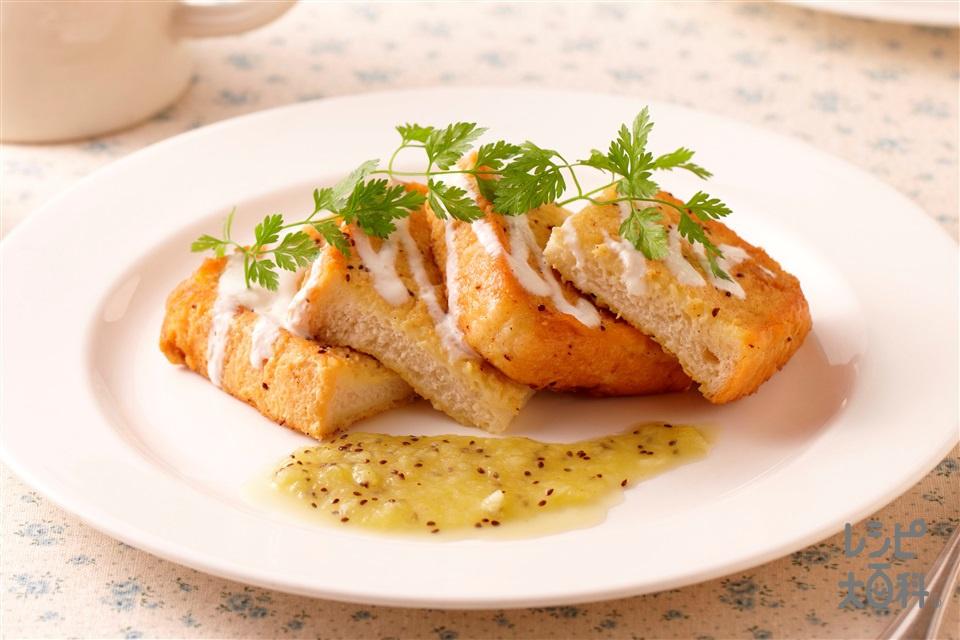キウイジャムフレンチトースト(キウイ+「パルスイート」を使ったレシピ)